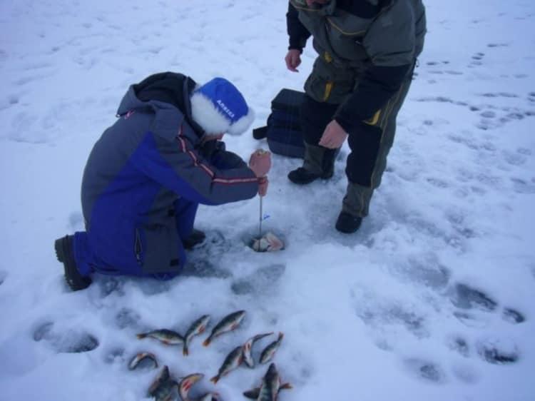 Пример использования багора зимой