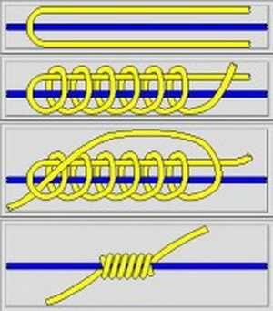 как завязать стопорный узел