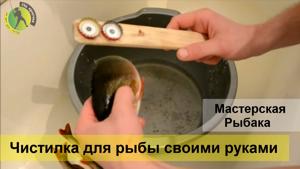 Чистилка для рыбы своими руками или как легко почистить окуня