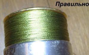 Укладка шнура на шпулю