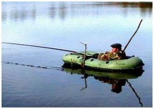 ловля с лодки на живца