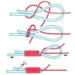 Схема вязания узла Олбрайт