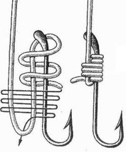 Схема завязывания ступенчатого узла