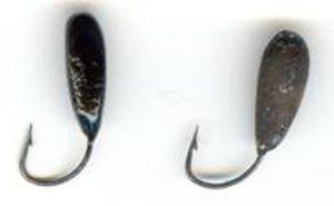 Окрашивание самодельной мормышки марганцовкой