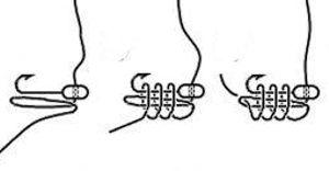 схема привязки мормышки к леске
