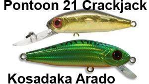Вместо воблера Pontoon 21 CrackJack можно купить дешевый аналог Kosadaka Arado