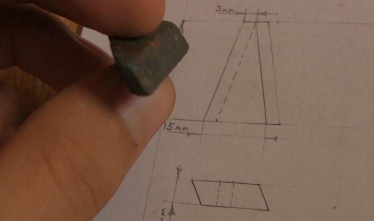 Форма для отливки конуса из пластилина