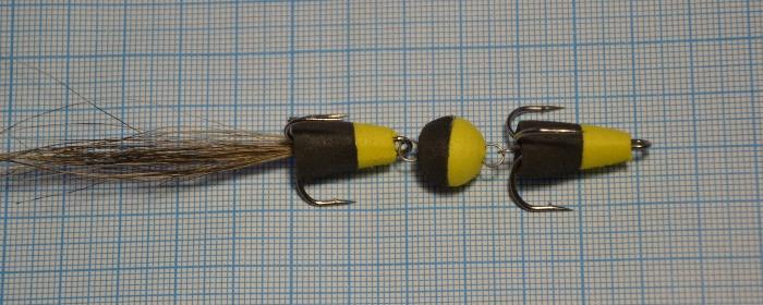 Мандула на судака черная+желтая