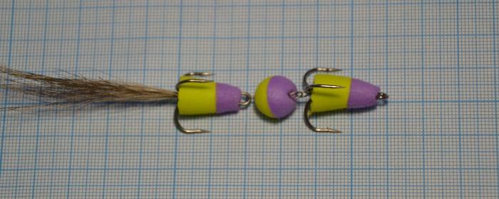 Мандула на судака желтый+фиолет
